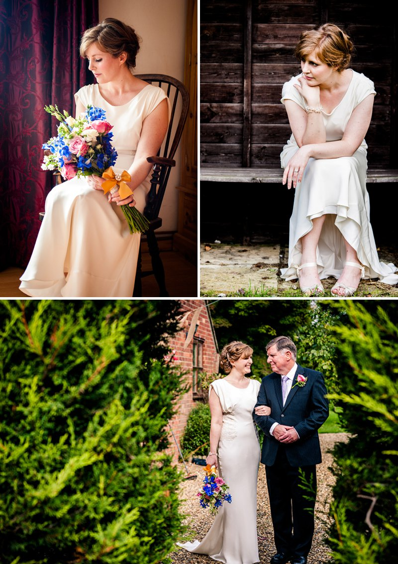 a rustic backyard wedding with bride in elegant rapsimo dress and