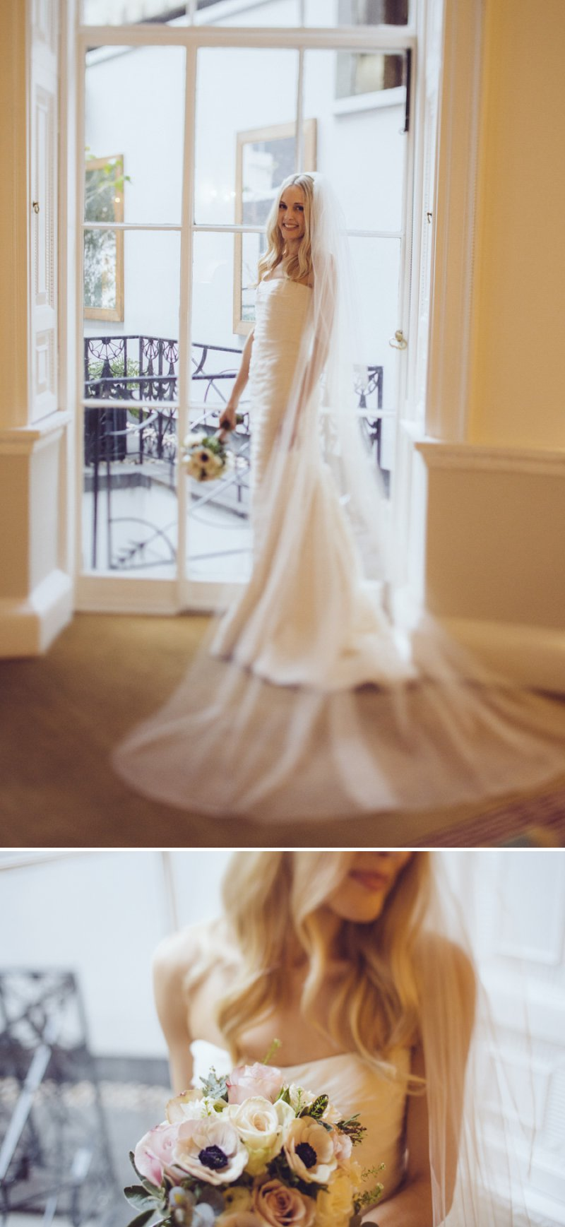 Sophisticated London Wedding At Chandos House With Reception And Dinner At Corrigan's Mayfair With Bride In Peter Langner Gown With Brian Atwood Shoes And Groom In Bespoke Thom Sweeney Suit With Flowers By Scarlet And Violet 5