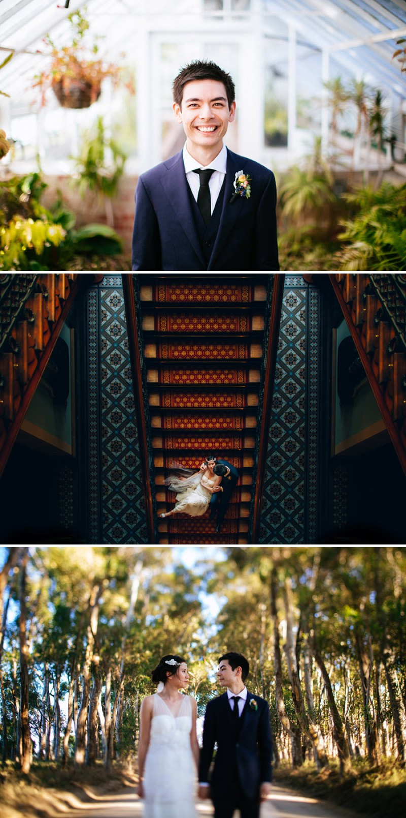 Ultra Hip And Modern Outdoor Destination Wedding In Australia With An Anna Campbell Bridal Gown And An Autumnal Bouquet With Electric Blue Bridesmaid Dresses Photographed By Lakshal Perera._0008