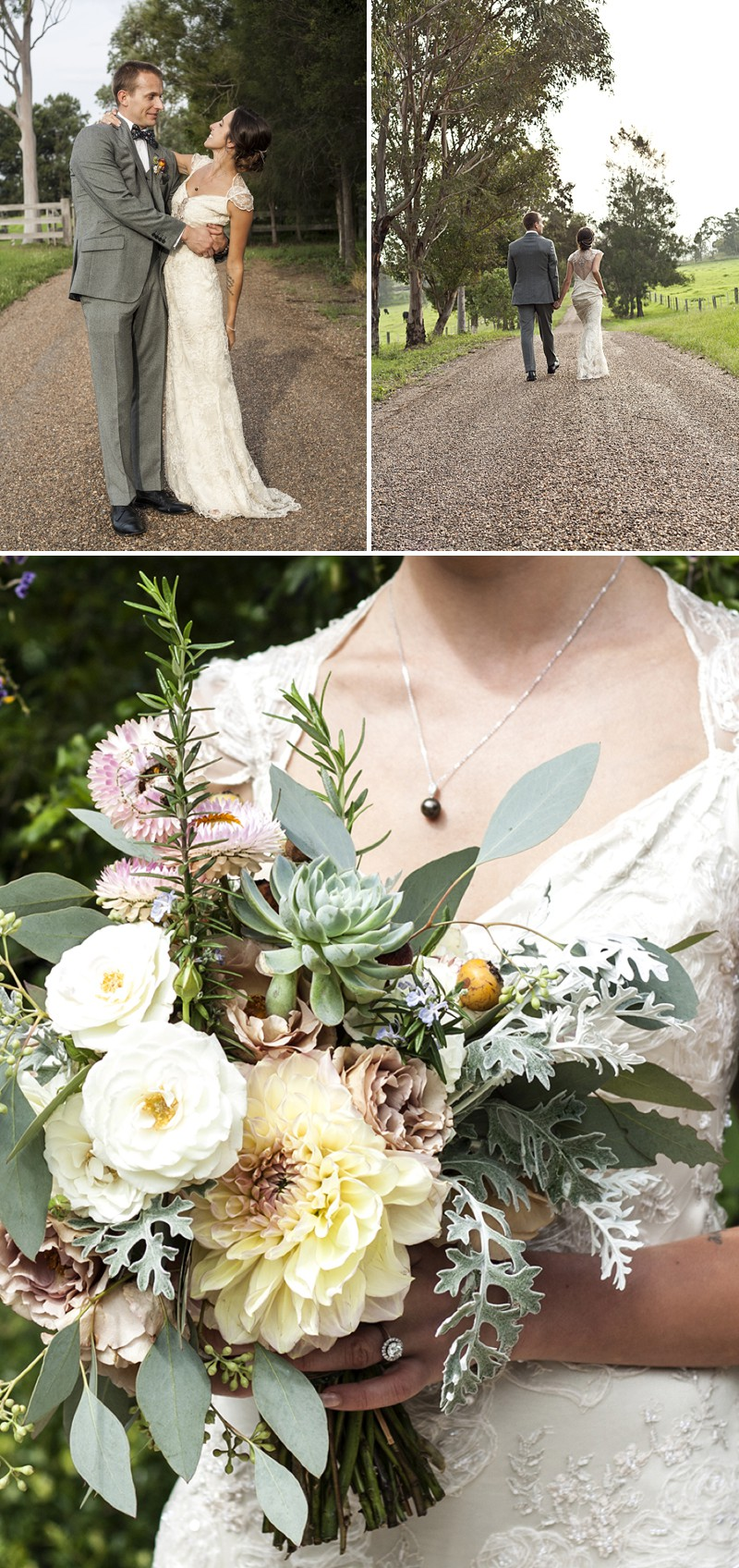 A Beautiful Australian Wedding At Mindaribba House In Hunter Valley In Australia With A Handpicked Dahlia Bouquet And A Claire Pettibone 'Mystere' Dress Photographed By Joseph Fordham._0008