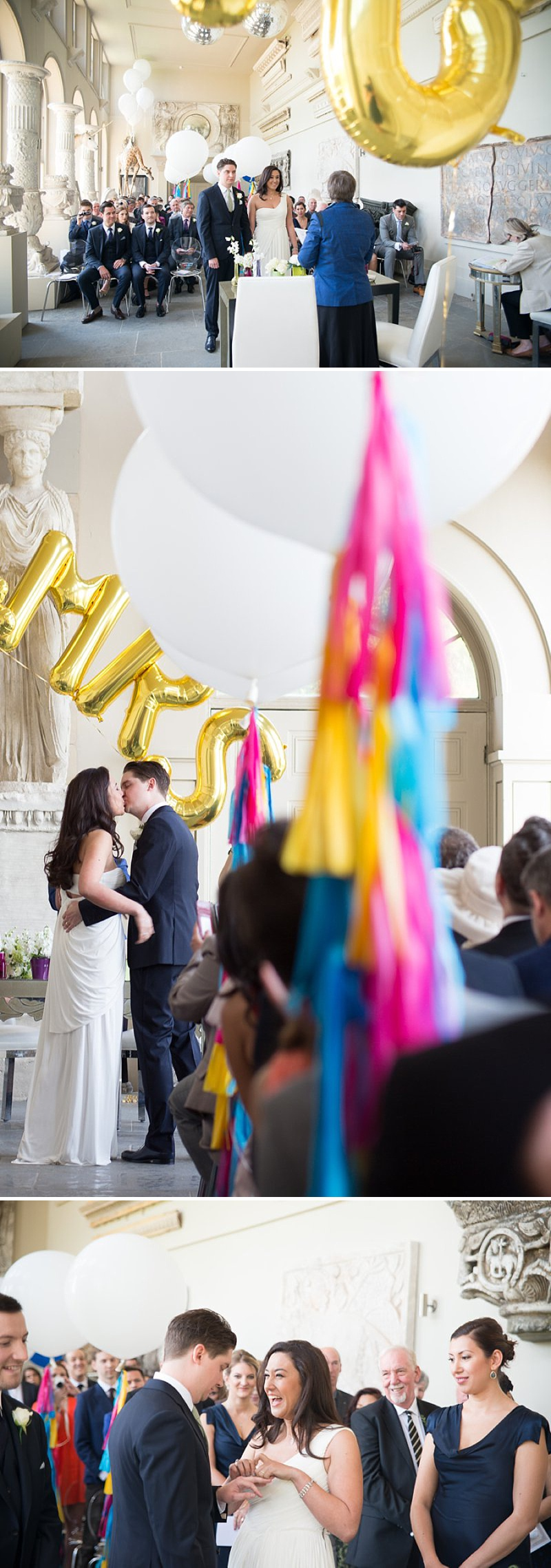 A gatsby themed wedding at Aynhoe Park with navy bridesmaids and bright balloons_0143
