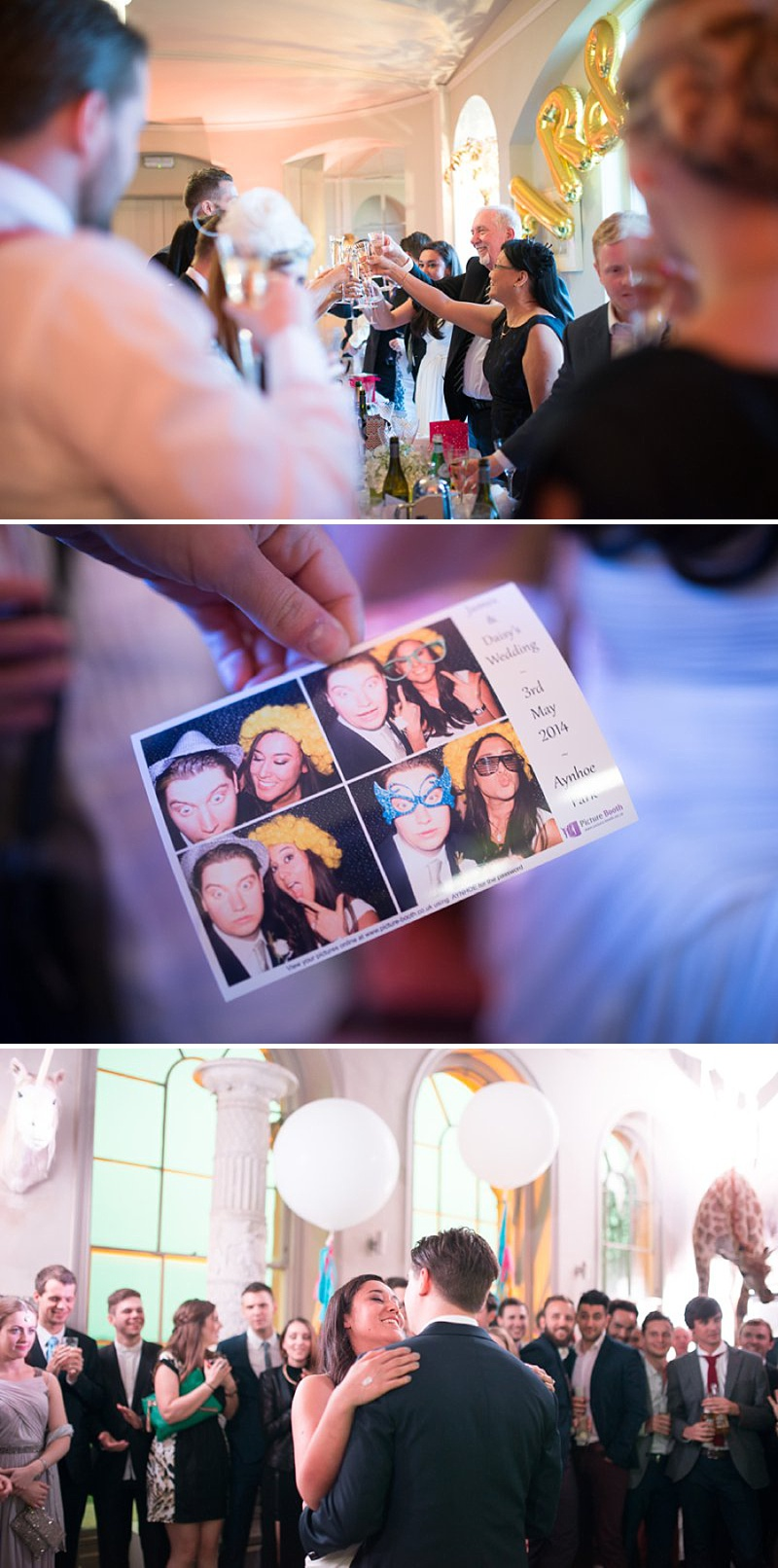 A gatsby themed wedding at Aynhoe Park with navy bridesmaids and bright balloons_0149