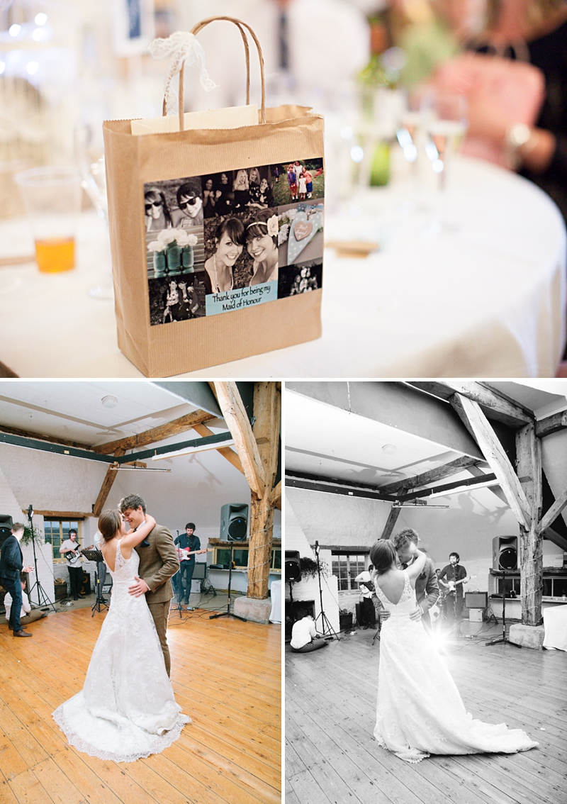 A rustic wedding with a blue colour scheme, bride in Maggie Sottero and groom wearing tweed from Topman. Hand made paper flowers made from fifty shades of grey pages and photography by Camilla Arnhold_0032