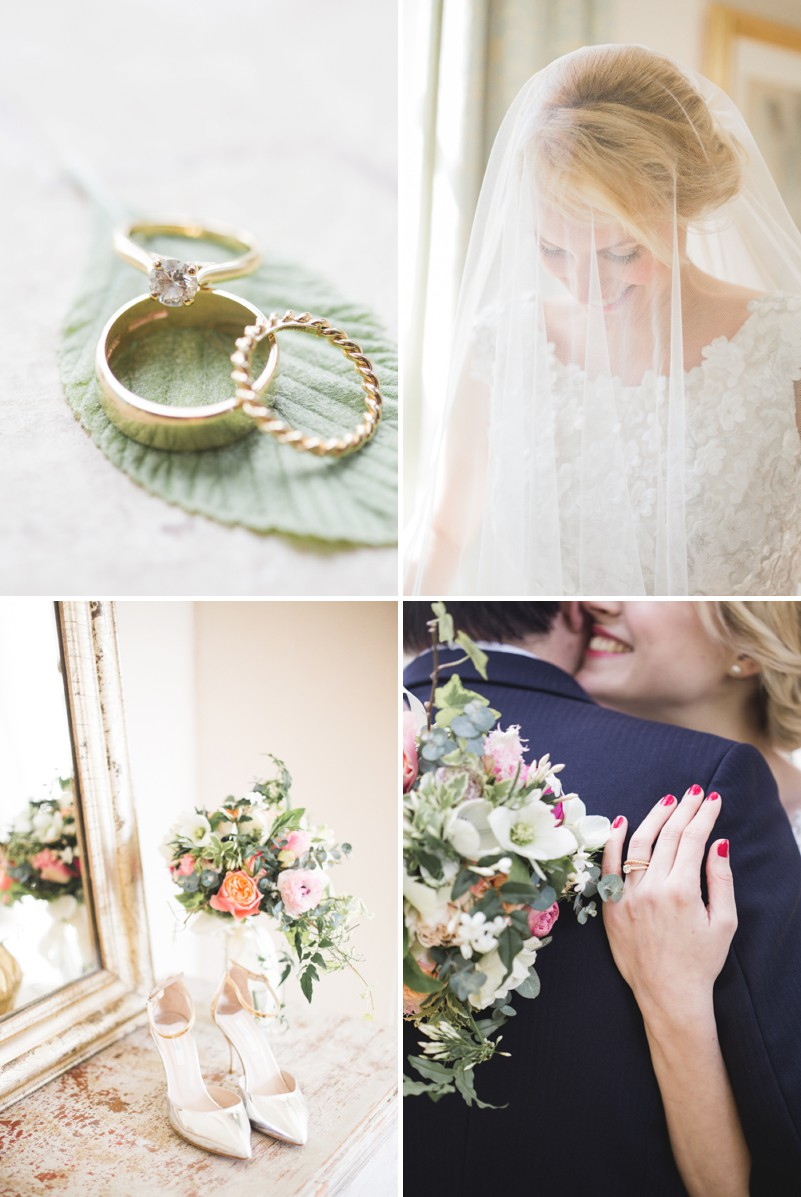 An Elegant English Wedding At The Matara Centre In The Cotswolds With A Bespoke Jenny Lessin Wedding Skirt and Top And Hot Pink Bridesmaid Dresses And A Gin And Tonic Cocktail Bar By M&J Photography._0001