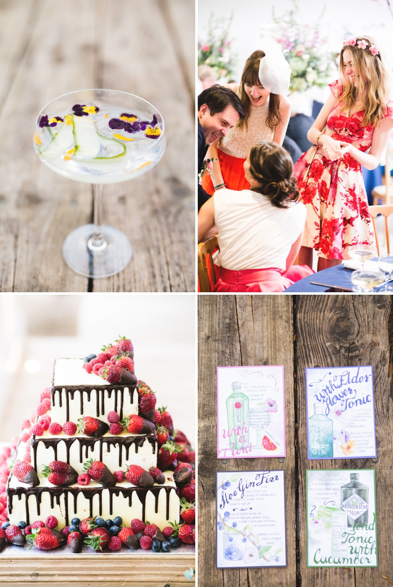An Elegant English Wedding At The Matara Centre In The Cotswolds With A Bespoke Jenny Lessin Wedding Skirt and Top And Hot Pink Bridesmaid Dresses And A Gin And Tonic Cocktail Bar By M&J Photography._0009