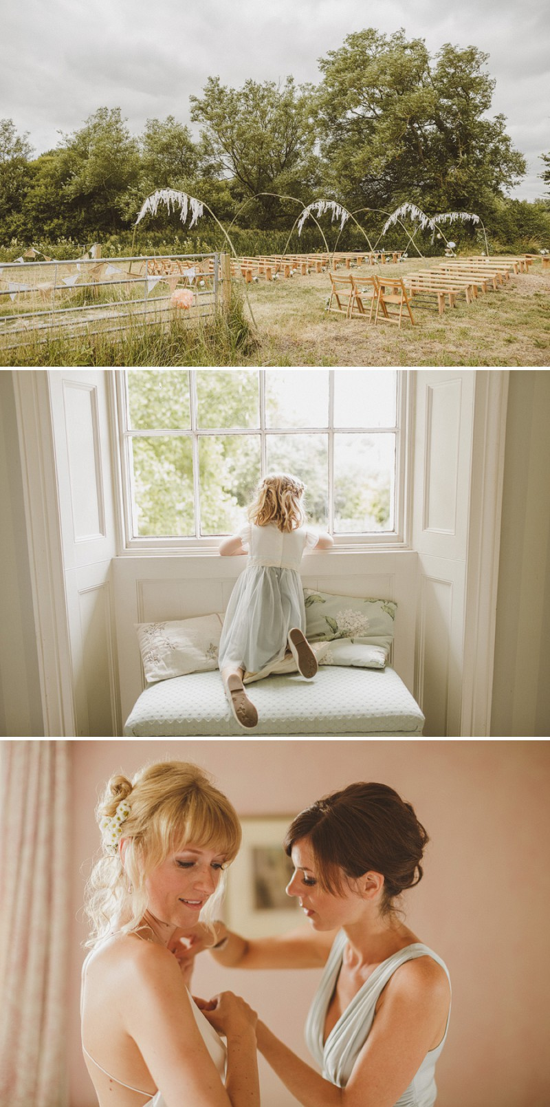 An Epic DIY Bohemian Wedding At Ratfyn Farm With A Jenny Packham Dress And A Humanist Ceremony And A Peach Colour Scheme Photographed By Ed Peers._0003
