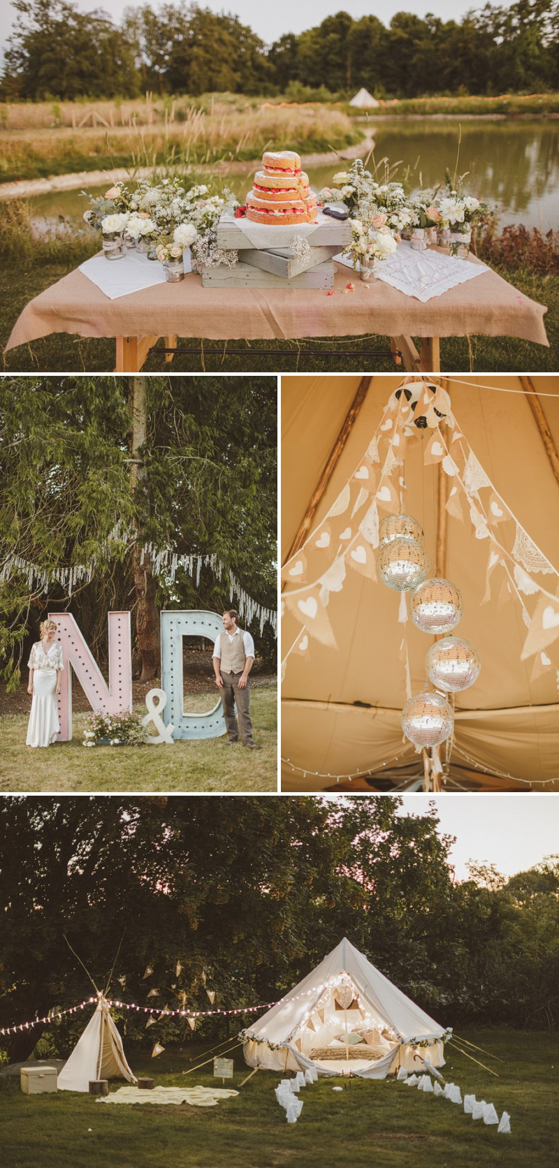 An Epic DIY Bohemian Wedding At Ratfyn Farm With A Jenny Packham Dress And A Humanist Ceremony And A Peach Colour Scheme Photographed By Ed Peers._0008