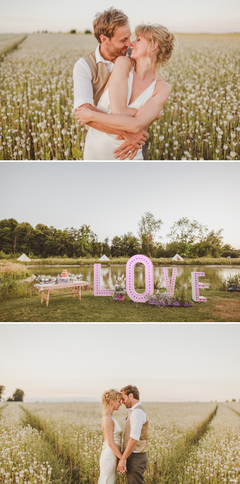 An Epic DIY Bohemian Wedding At Ratfyn Farm With A Jenny Packham Dress And A Humanist Ceremony And A Peach Colour Scheme Photographed By Ed Peers._0010