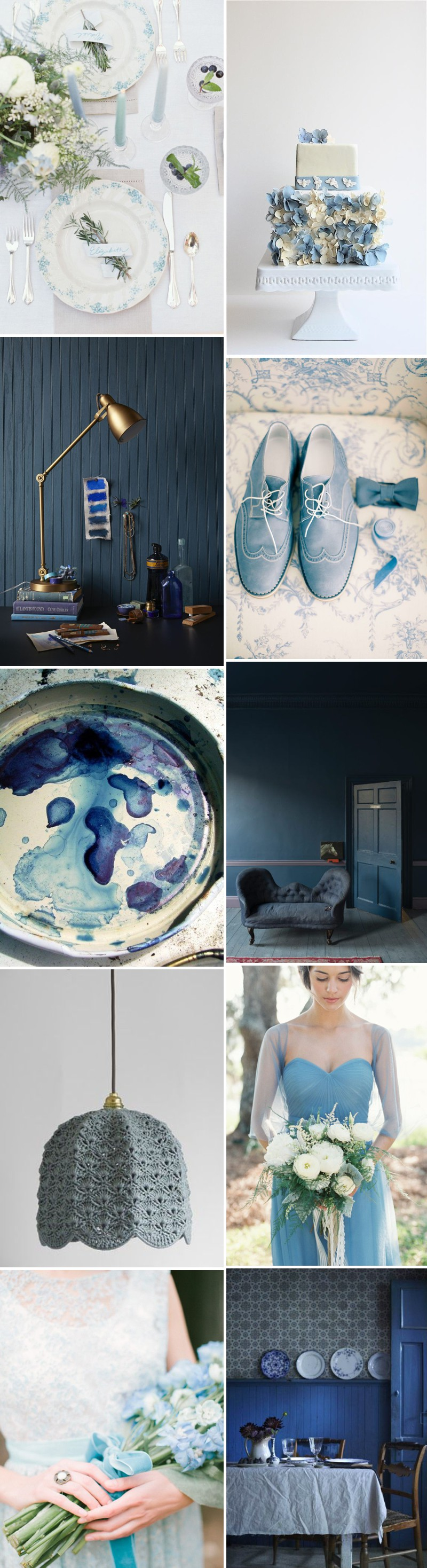 An Inspiration Mood Board For A Blue Colour Scheme Themed Wedding._0001