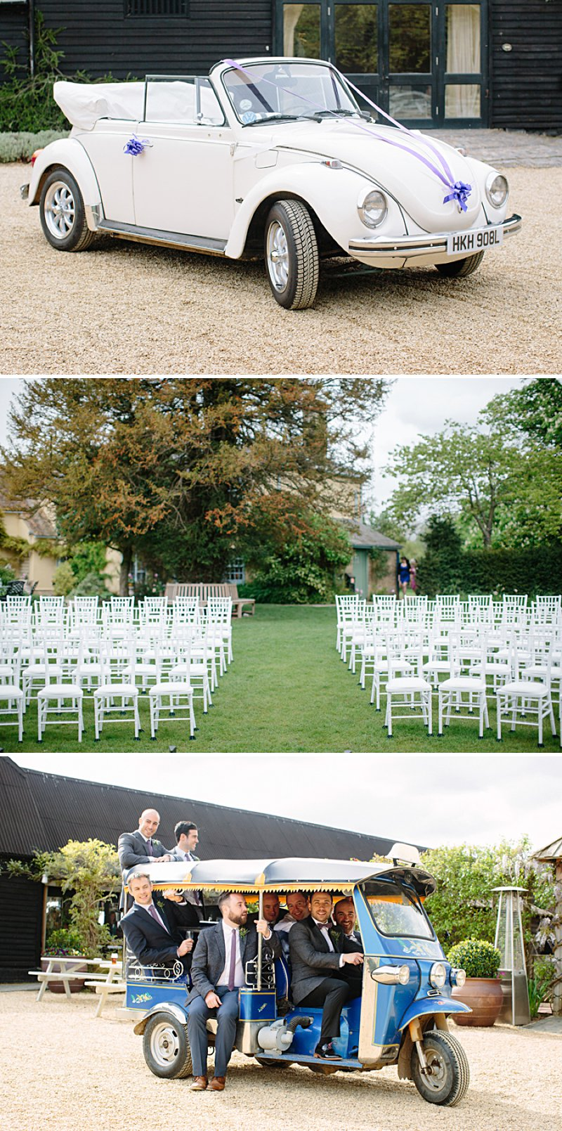An Outdoor Wedding With Vintage VW beetle Tuk Tuk And Rustic Details. Paloma Blanca Dress Dessy Bridesmaids and Monsoon Flowers Girls. Photography by Nicola Milns 0001 May The Road Rise To Meet You.