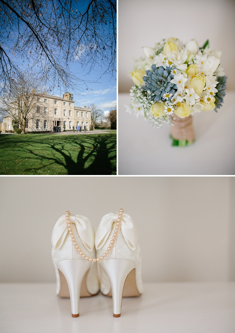 An elegant welsh wedding at Eastington park with a vintage country theme and a lace fishtail justin alexander wedding dress with spring flowers and a tupli bouquet_0110
