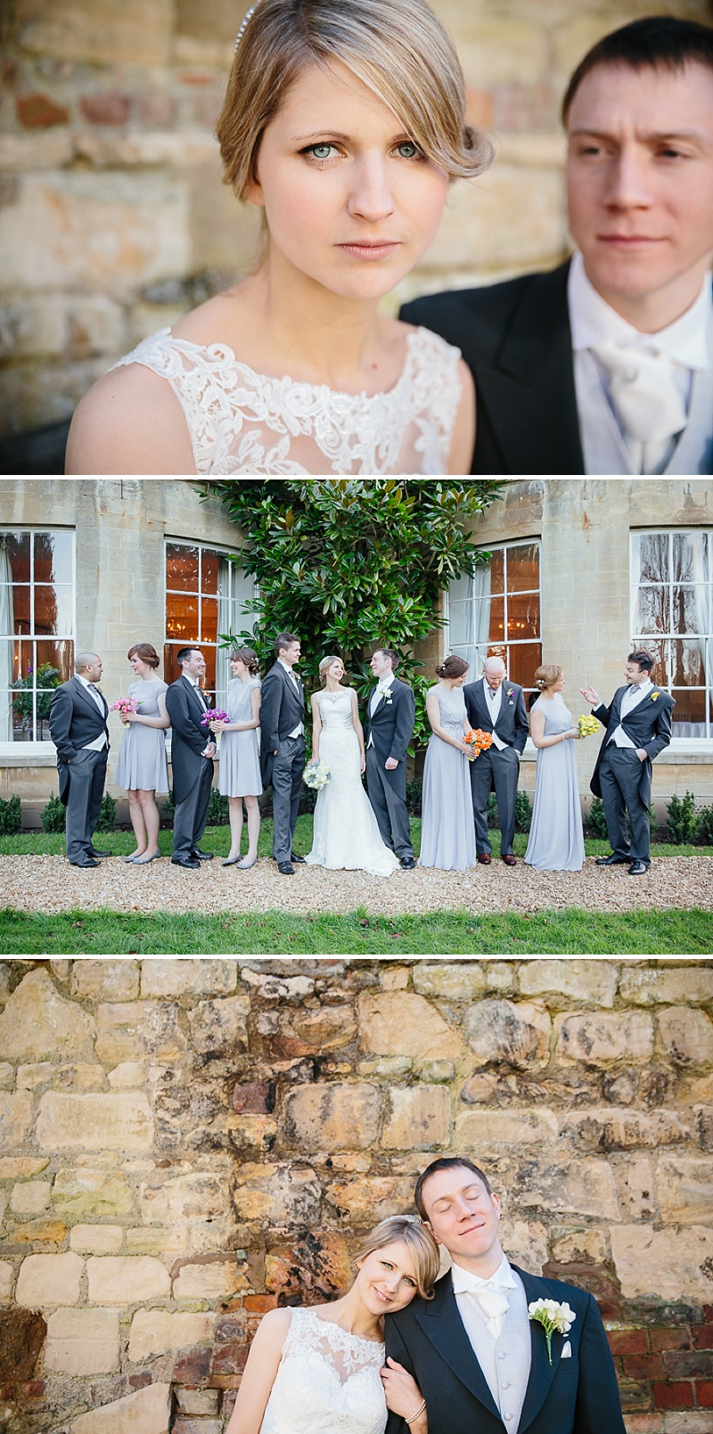 An elegant welsh wedding at Eastington park with a vintage country theme and a lace fishtail justin alexander wedding dress with spring flowers and a tupli bouquet_0116