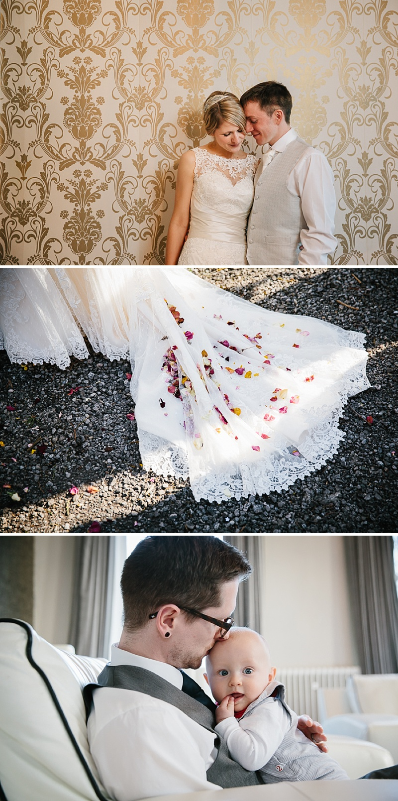 An elegant welsh wedding at Eastington park with a vintage country theme and a lace fishtail justin alexander wedding dress with spring flowers and a tupli bouquet_0118