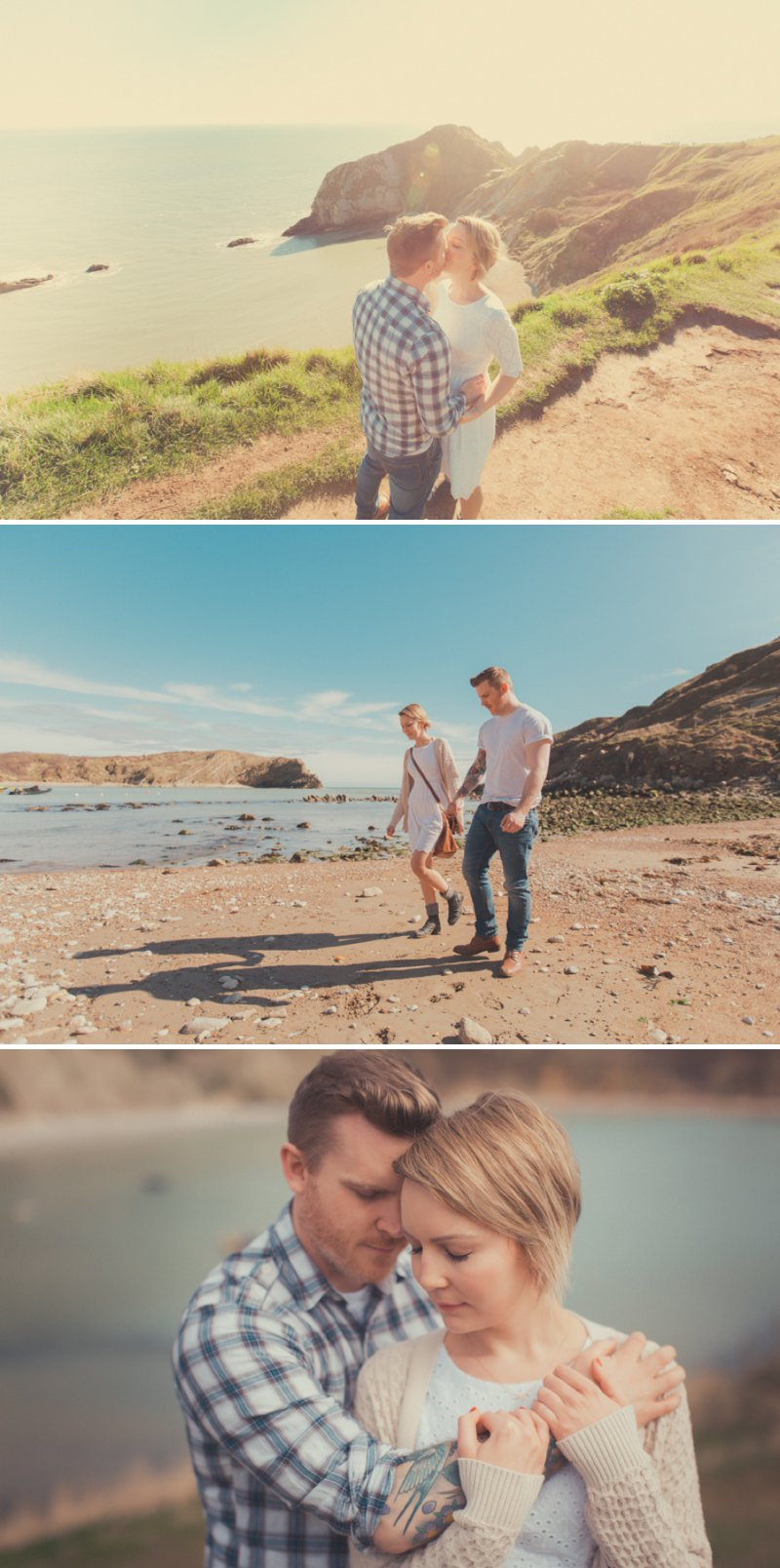Engagement Shoot From James Green Photography At Lulworth Cove And Durdle Door On The Jurassic Coast 1 Magical Light On The Jurassic Coast.