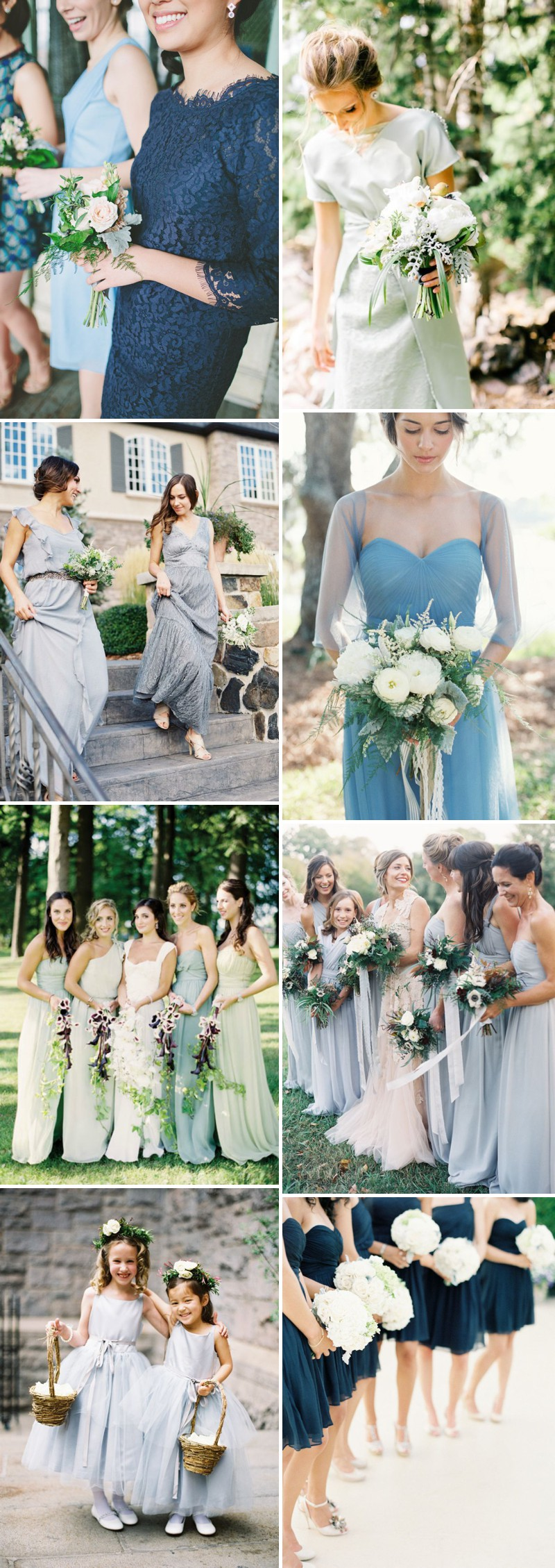Four Beautiful Bridesmaid Trends For 2014 Including Metallics, Neutrals Blue and Black Colour Palettes._0001