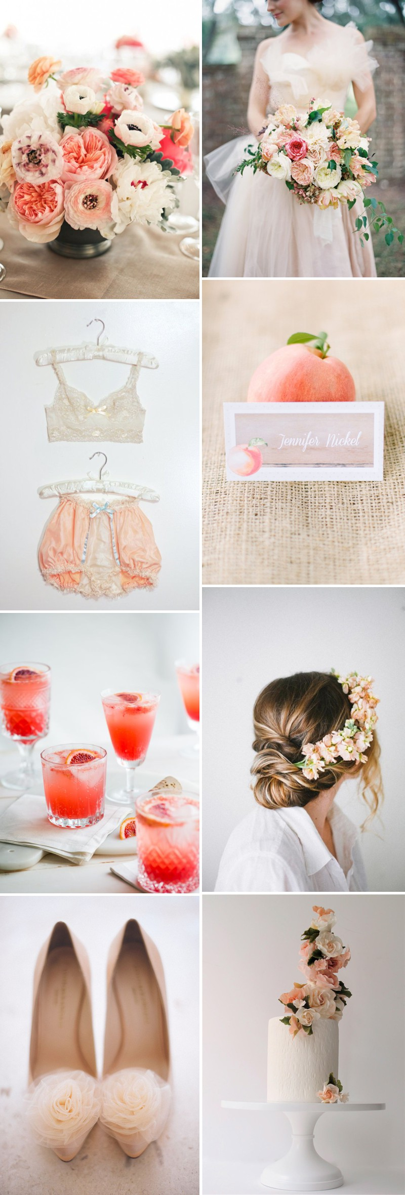 How To Create A Peach Colour Themed Wedding Using Flowers, Bridesmaids, Cakes And Decor._0001