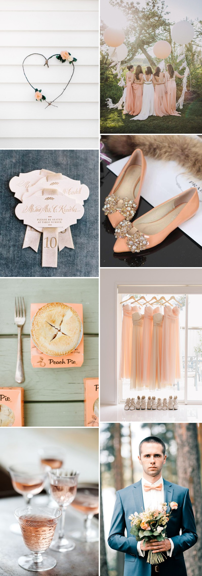 How To Create A Peach Colour Themed Wedding Using Flowers, Bridesmaids, Cakes And Decor._0002