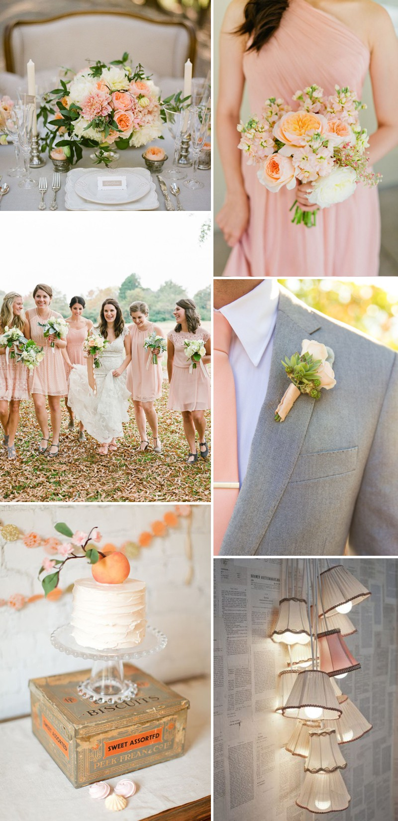 How To Create A Peach Colour Themed Wedding Using Flowers Bridesmaids Cakes And Decor