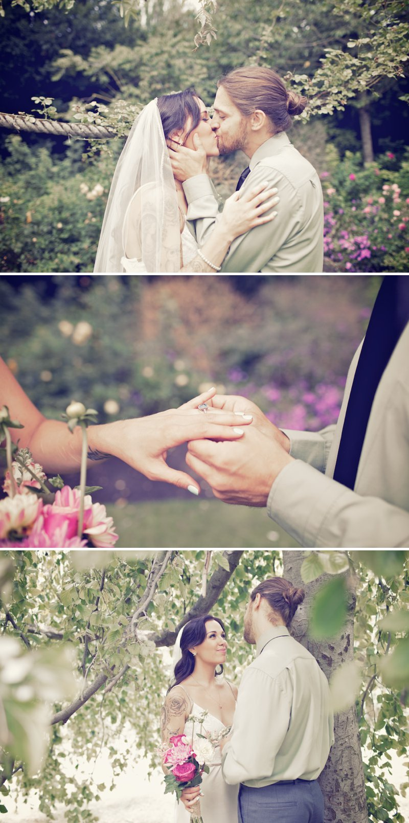 London Elopement Of Canadian Couple With Bride In Elegant Gown And Groom In Mint Shirt With Images In Regents Park 1