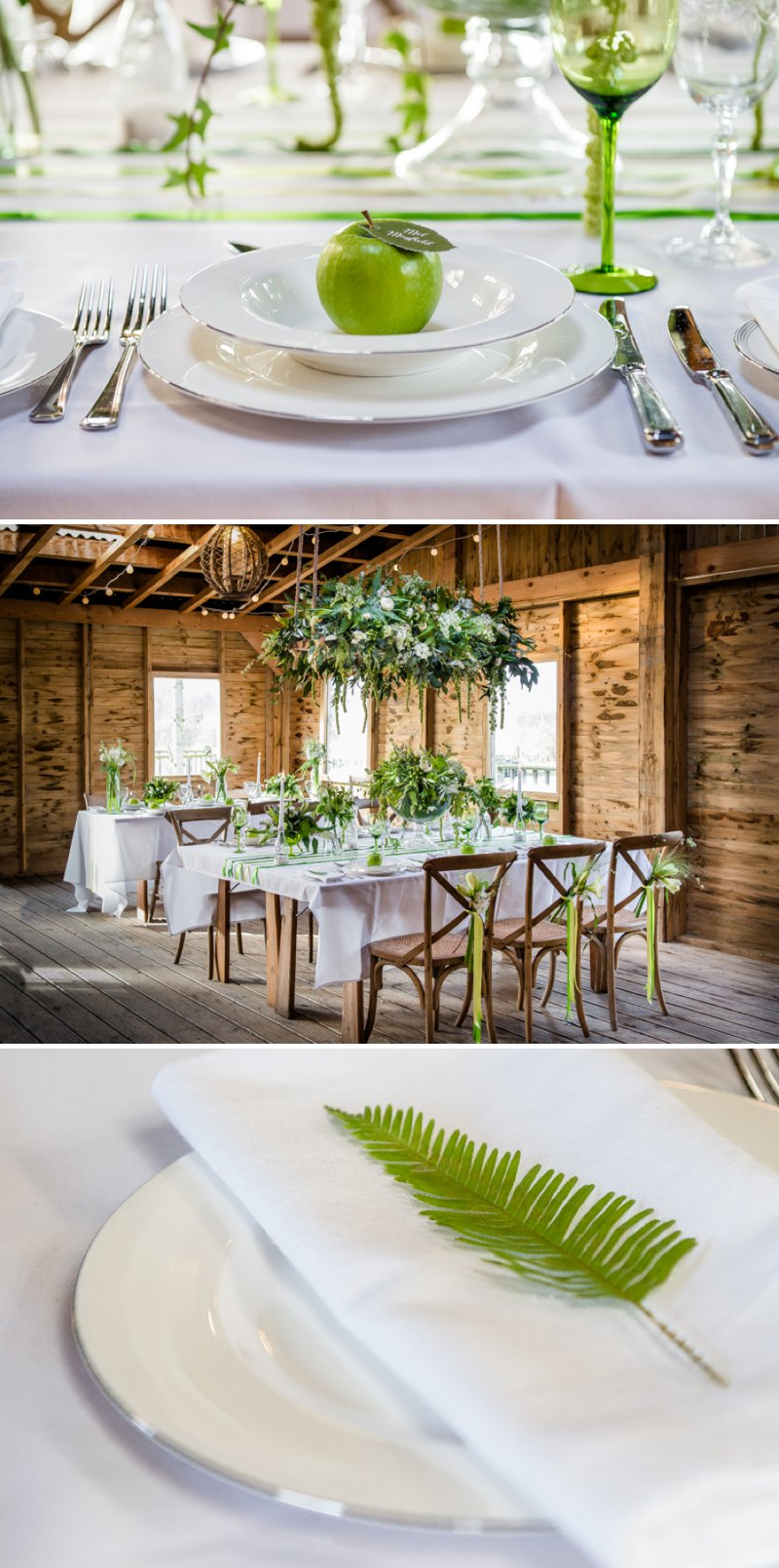 Rustic Glamour Inspired Shoot At York Maze With An Apple Green Colour Scheme Lots of Green Foliage And White Flowers With Images By Dominic Wright Photography 2