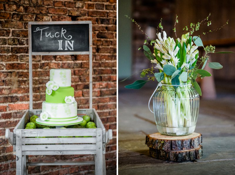 Rustic Glamour Inspired Shoot At York Maze With An Apple Green Colour Scheme Lots of Green Foliage And White Flowers With Images By Dominic Wright Photography 7