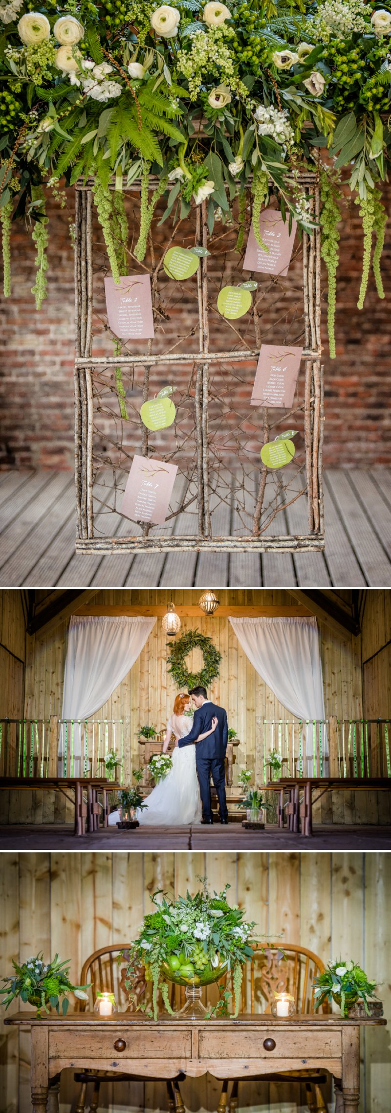 Rustic Glamour Inspired Shoot At York Maze With An Apple Green Colour Scheme Lots of Green Foliage And White Flowers With Images By Dominic Wright Photography 8