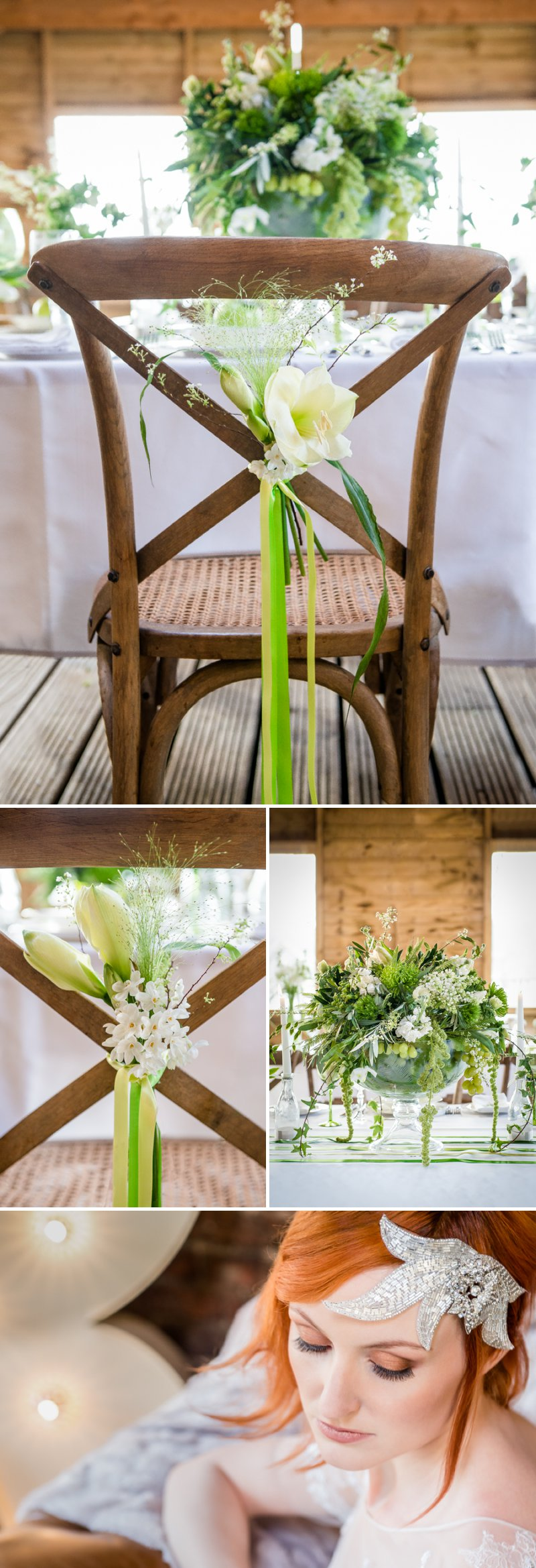 Rustic Glamour Inspired Shoot At York Maze With An Apple Green Colour Scheme Lots of Green Foliage And White Flowers With Images By Dominic Wright Photography 9