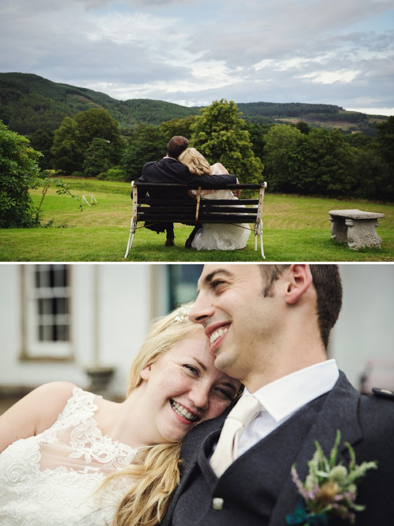 Rustic Scottish Beach Wedding With Bride In Justin Alexander And Vivien Of Holloway And Groom In Kilt With Bridesmaids In 50s Style Gowns With A Traditional Scottish Ceilidh 12