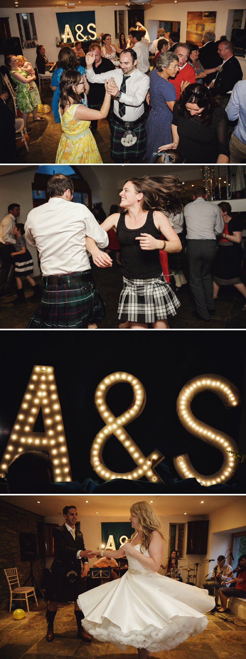 Rustic Scottish Beach Wedding With Bride In Justin Alexander And Vivien Of Holloway And Groom In Kilt With Bridesmaids In 50s Style Gowns With A Traditional Scottish Ceilidh 13