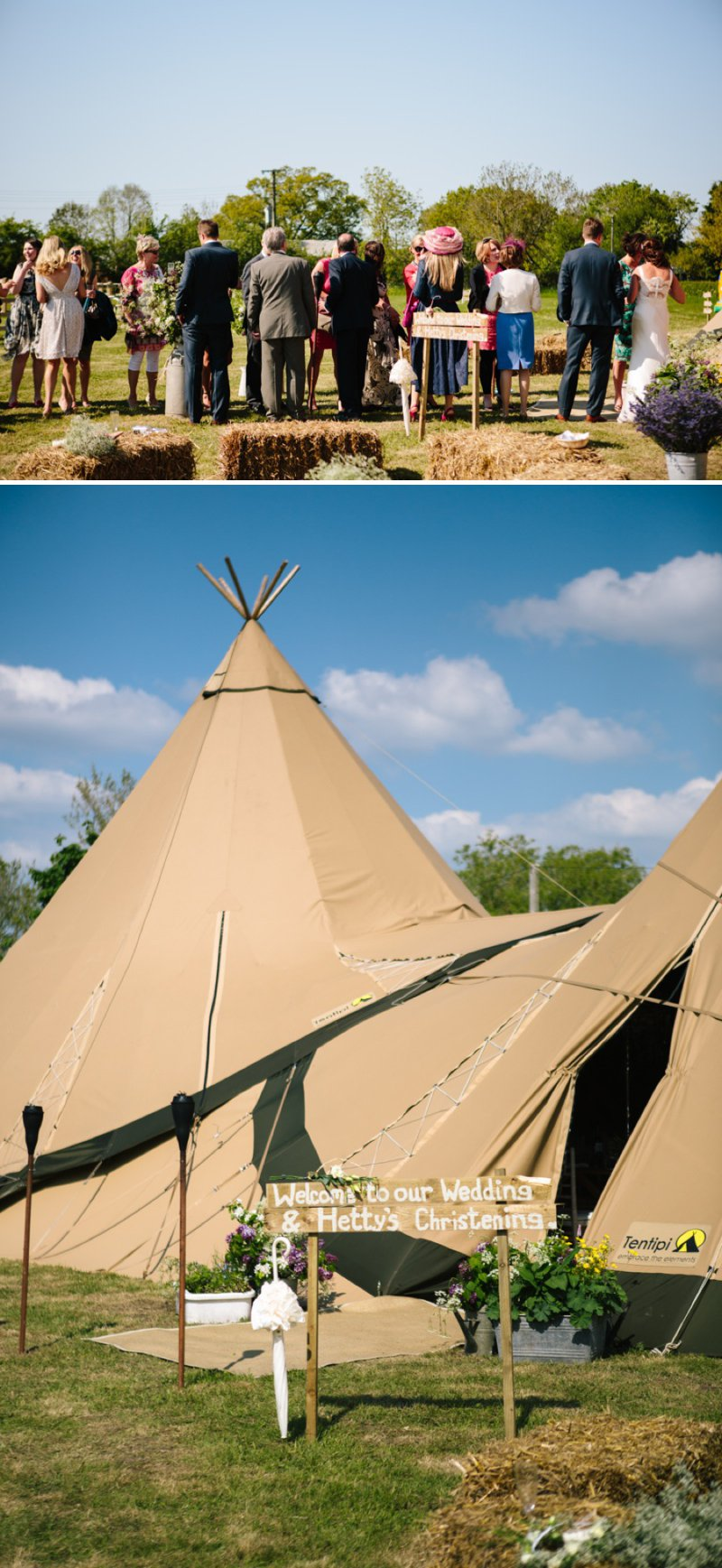 A Rustic Tipi Wedding And Christening In The Cheshire