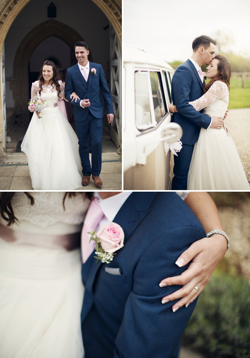 Rustic Wedding At Hyde Barn In Stow On The Wold With A Pale Pink Colour Scheme And Bride In Samantha By Sassi Holford With Bridesmaids In Pale Pink Twobirds Dresses With Groom In Navy Reiss Suit 7