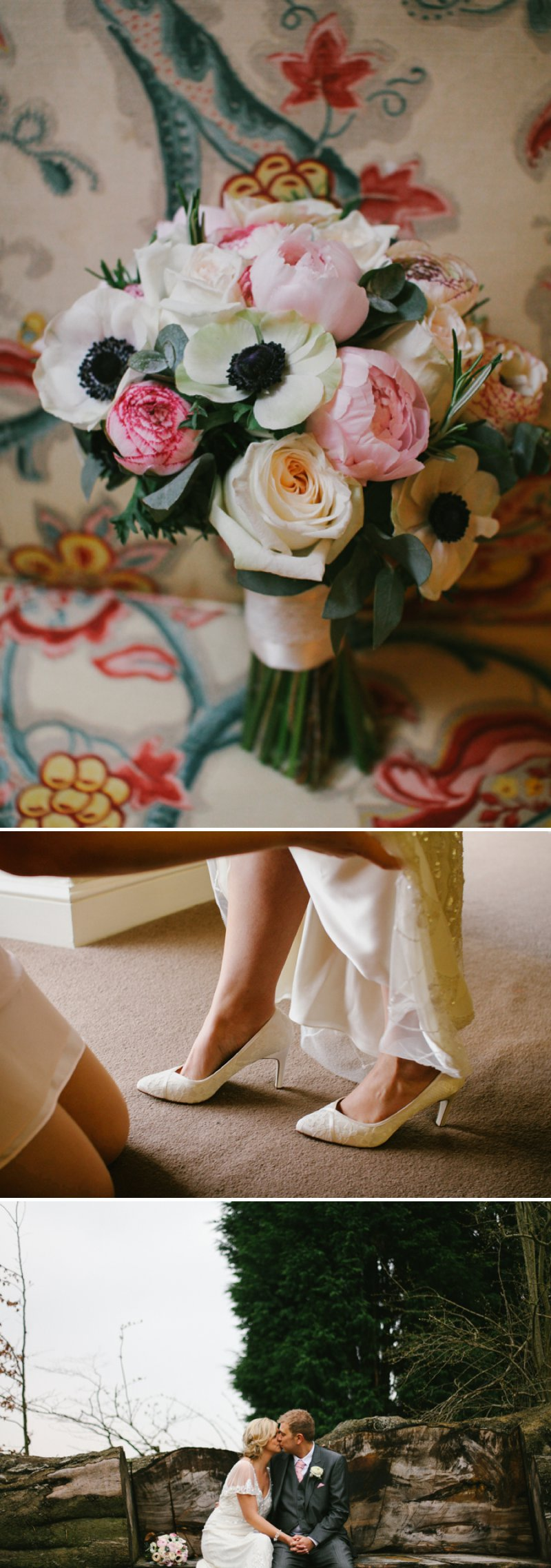 A vintage inspired wedding at hazlewood castle in for Wedding dress display at home