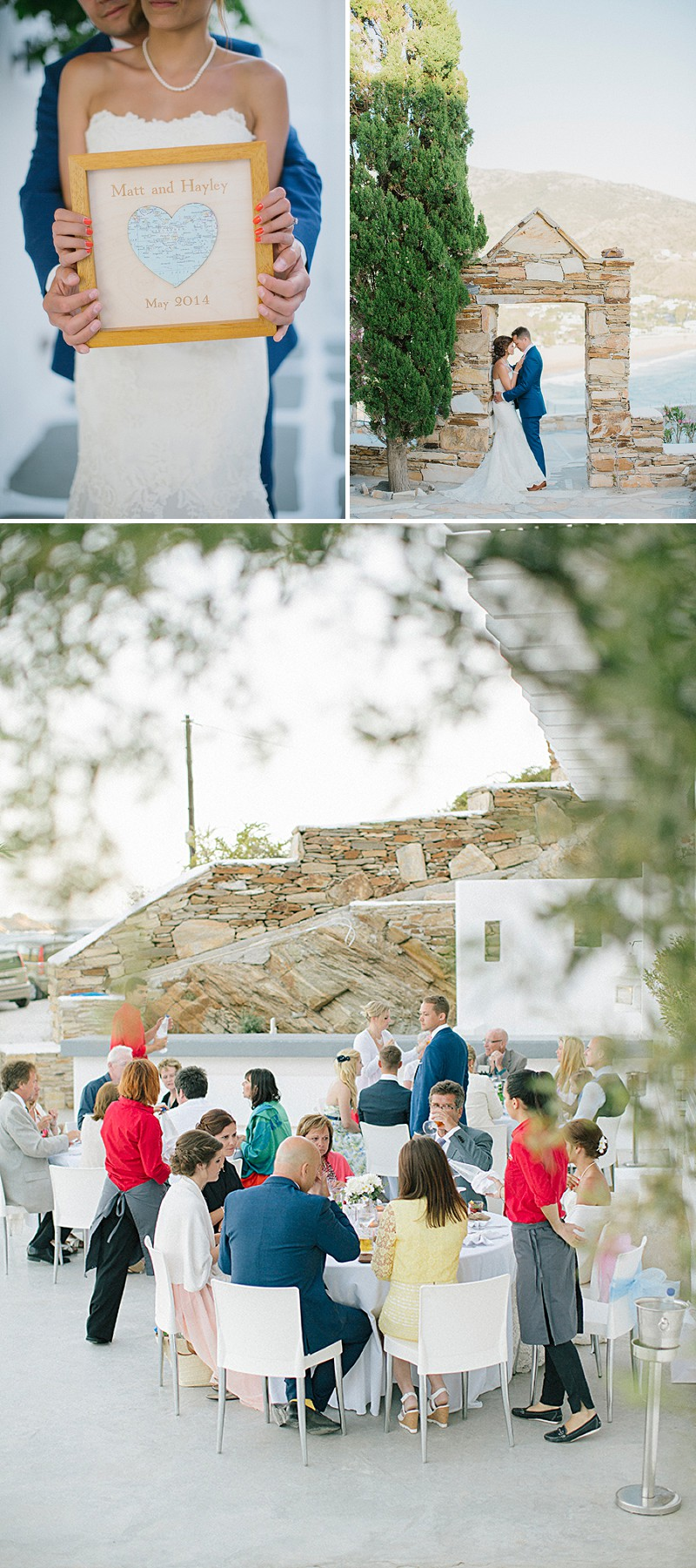 A Greek Destination Wedding On Tzamaria Beach In iOS With A Enzoani Dress And Peach Bridesmaid Dresses With Photography By Anna Roussos._0008