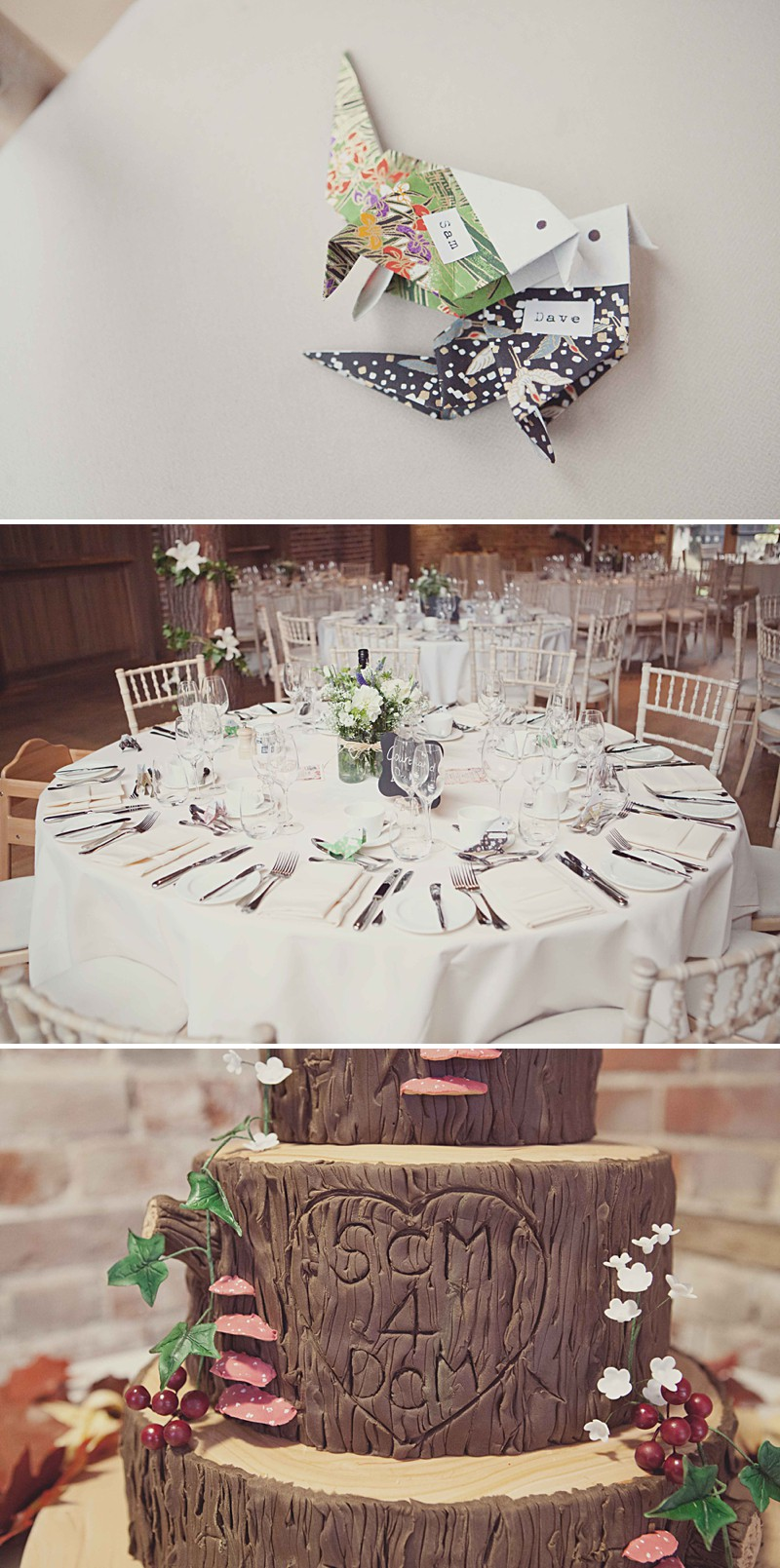 A Rustic Wedding At Gaynes Park With A Jenny Packham 'Eden' Dress And Dusky Blue Bridesmaids Dresses With Foliage Bouquets By Philippa James Photography._0008