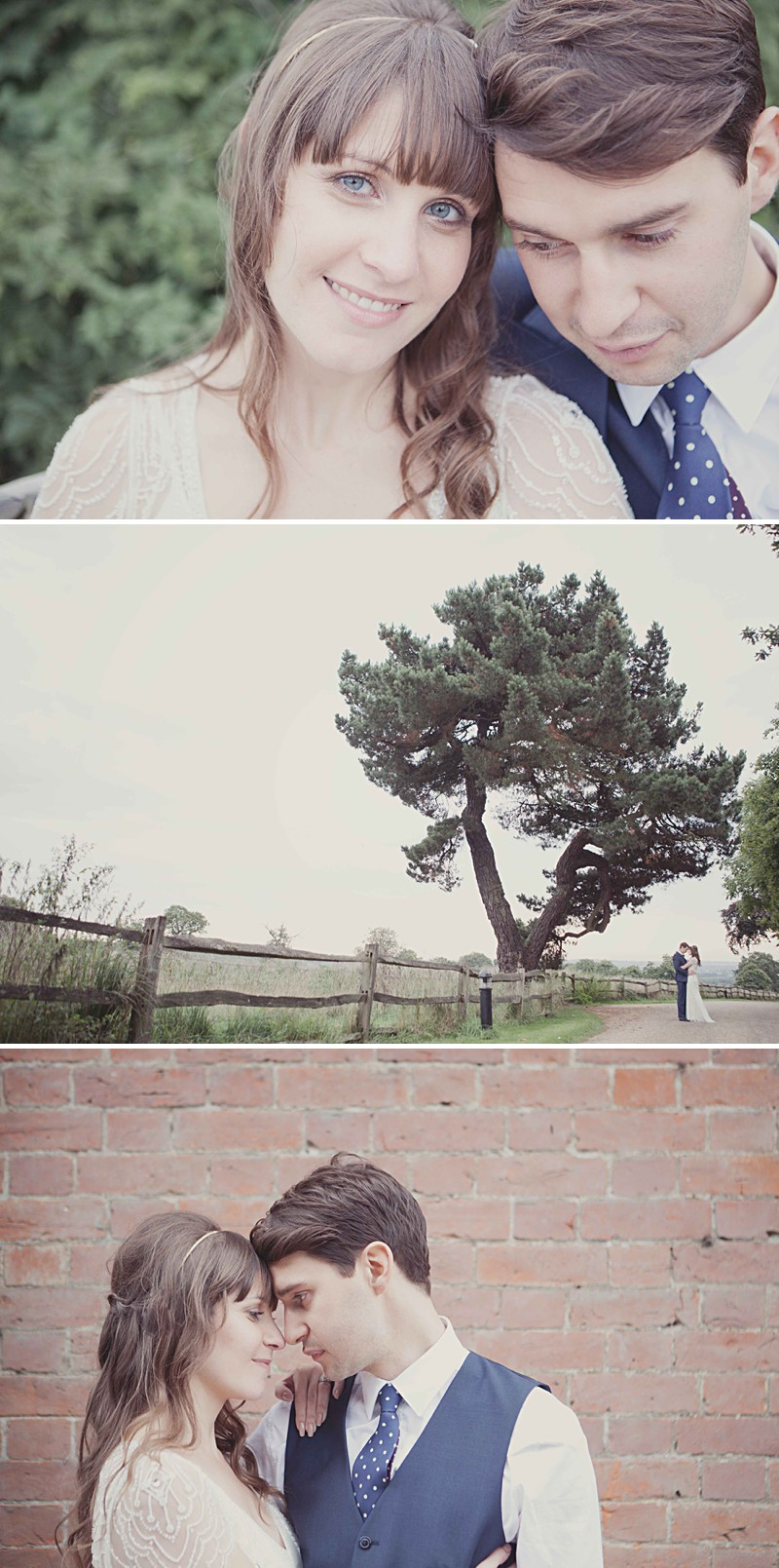 A Rustic Wedding At Gaynes Park With A Jenny Packham 'Eden' Dress And Dusky Blue Bridesmaids Dresses With Foliage Bouquets By Philippa James Photography._0009