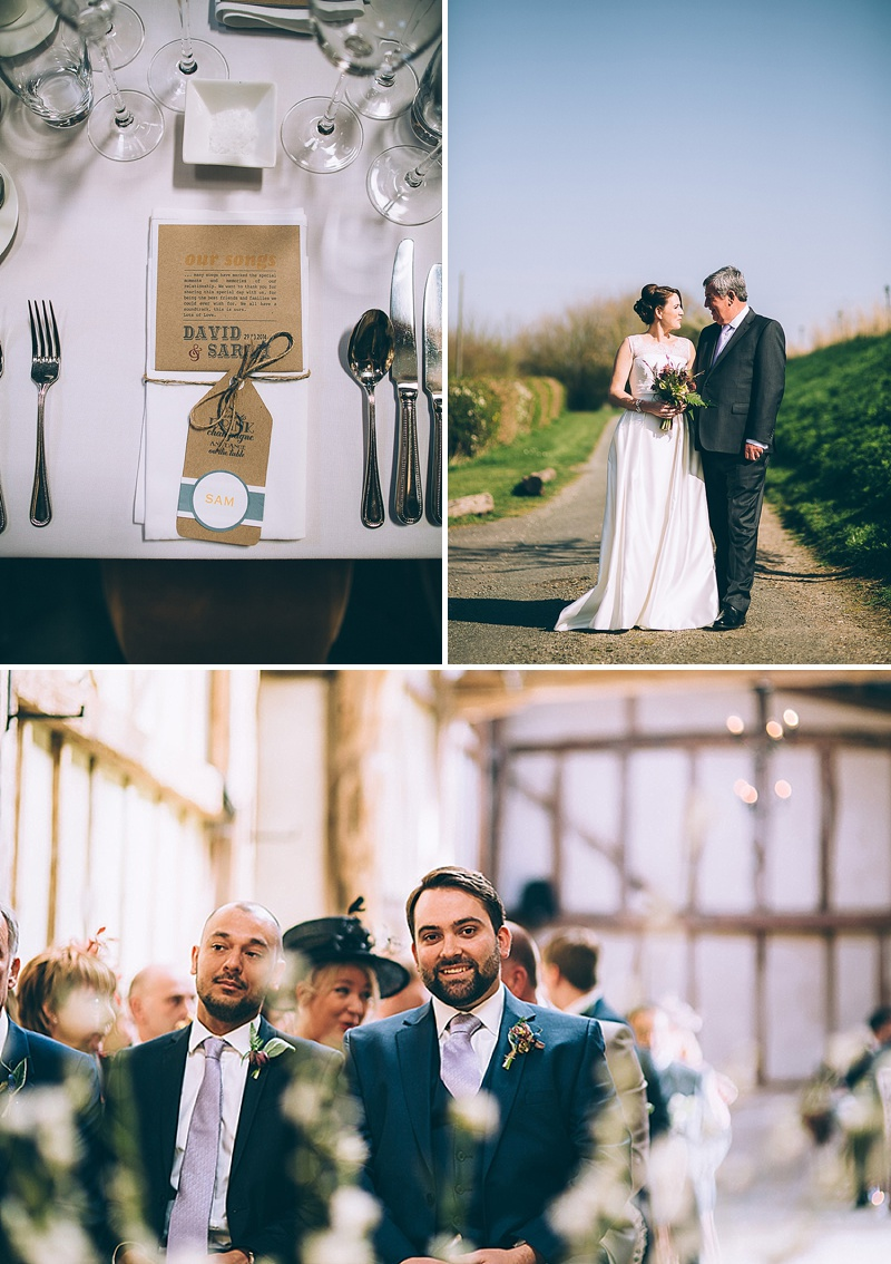 A wedding at Alpheton Hall Barns in Suffolk with a Jesus Peiro ballgown dress navy bridesmaids and DIY_0154
