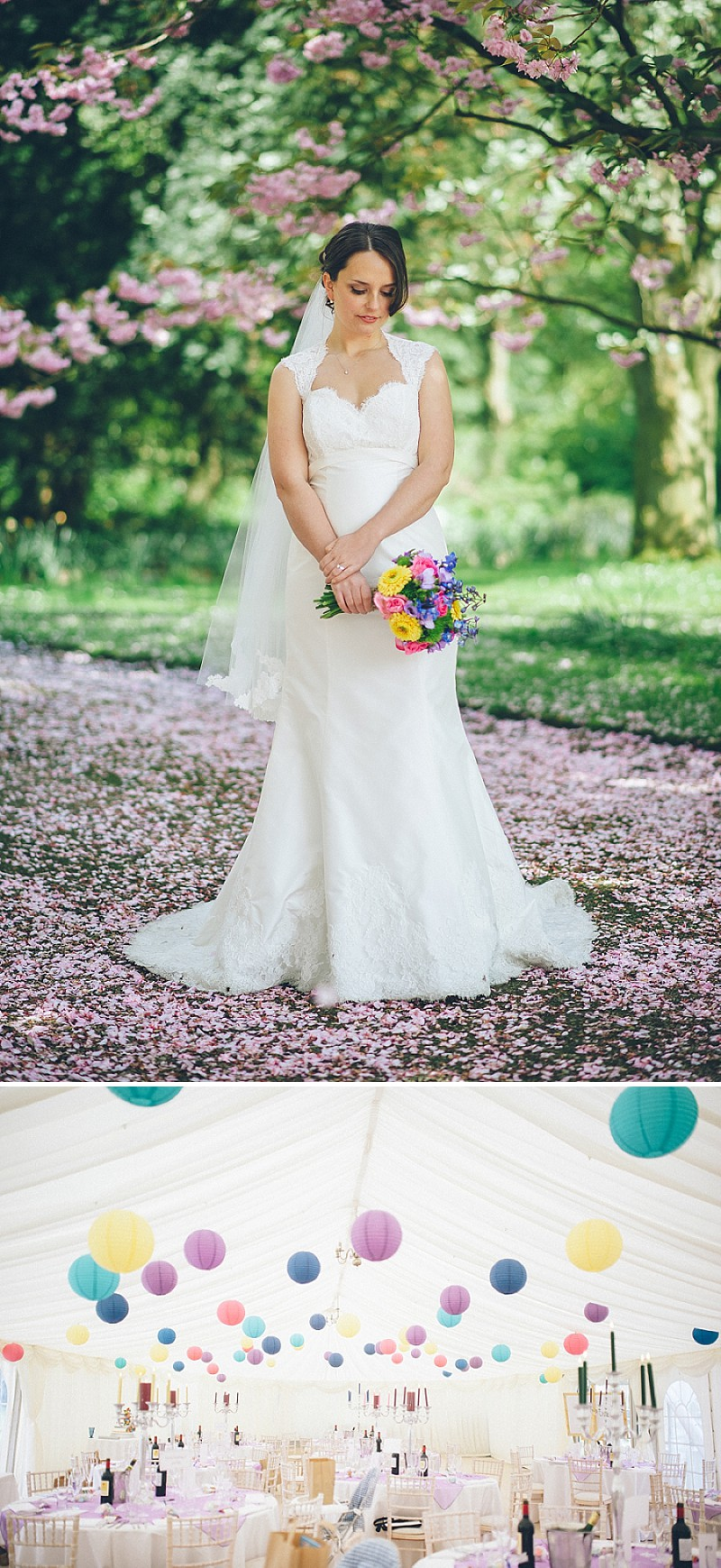 A wedding at Newburgh Priory with a bride in a Paloma Blanca lace dress and bridesmaid in assorted multi-coloured dresses_0164