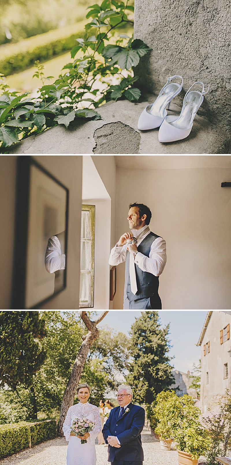 An Italian Destination Wedding At Borgo di Tragliata Near Rome With A Vintage Crotchet Wedding Dress and Sorbet Rose Bouquet Photographed By Mark Pacura._0002