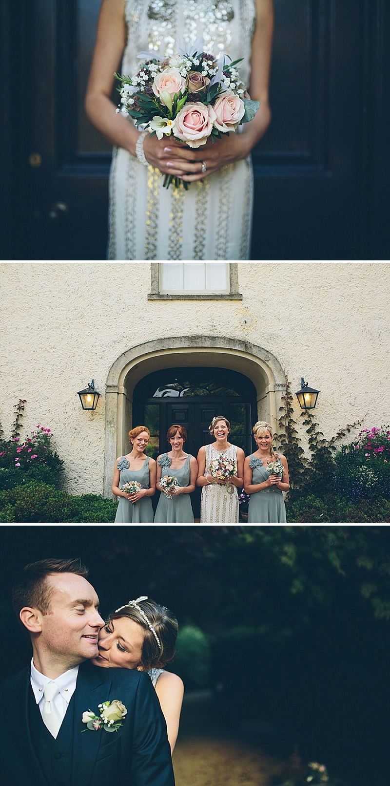 Art Deco and 1920s Inspired Wedding At The Matara Centre Gloucestershire With Bride In Joy By Jenny Packham and Bridesmaids in No 1 by Jenny Packham At Debenhams With Vintage Details and Speakeasy Themed Cocktails 1