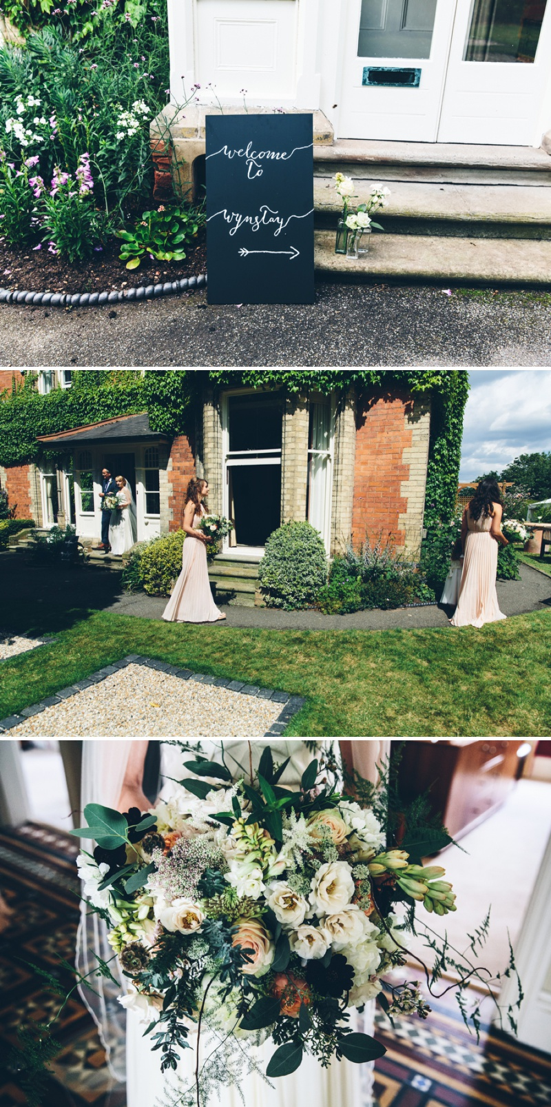 Beautifully Styled Elegant Yet Relaxed Marquee Wedding In Nottinghamshire With Bride In Nanette By Catherine Deane And Groom In Navy Suit By Reiss With A Floral Arch And Flower Box Created By Floraldeco 2