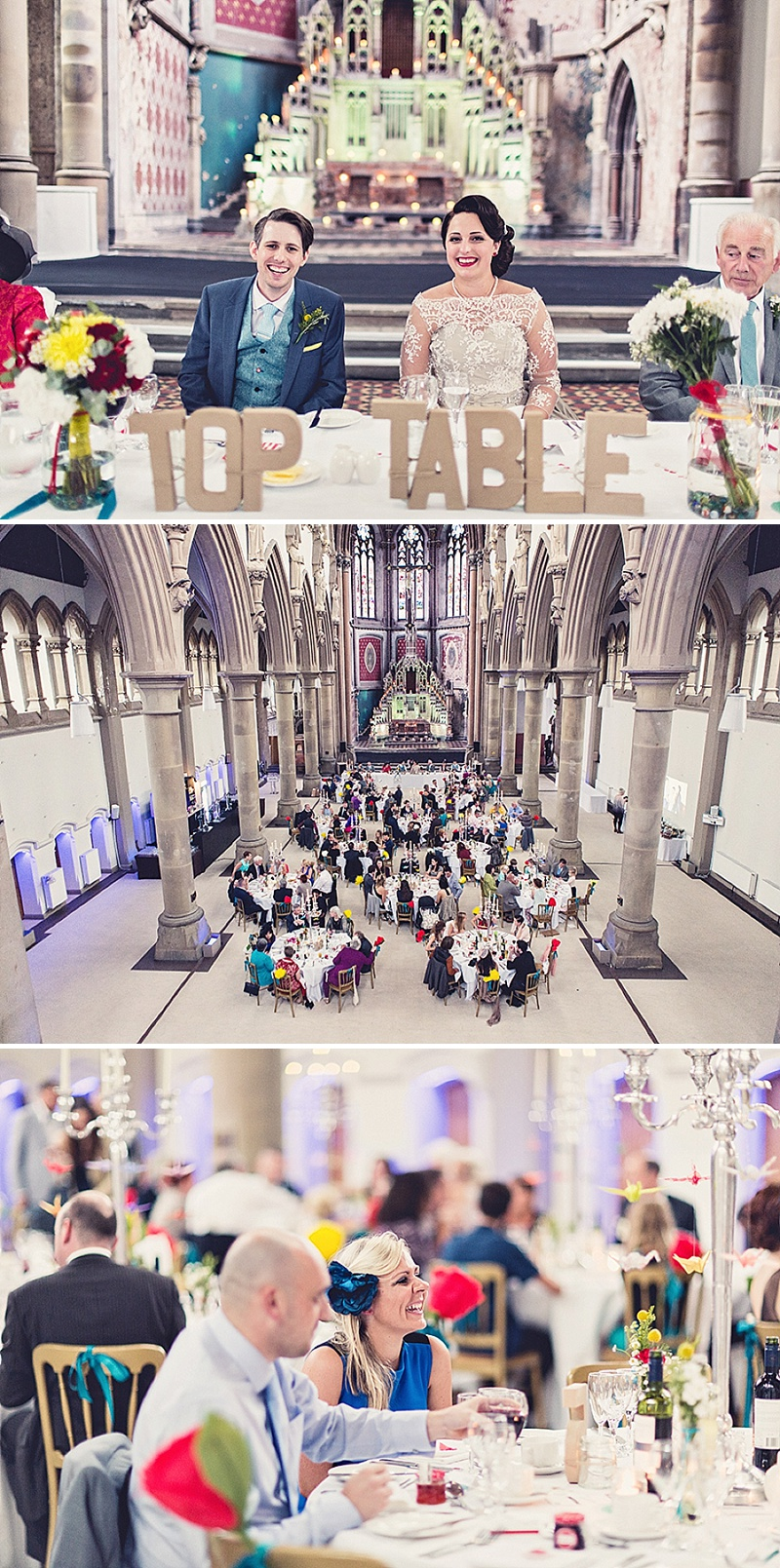 DIY Wedding At The Monastery In Manchester With Bride In Bespoke Gown And Bridesmaids In Green Dresses From Dig For Victory With An Unusual Home Made Table Plan, Origami Cranes And A Flashmob Dance 8
