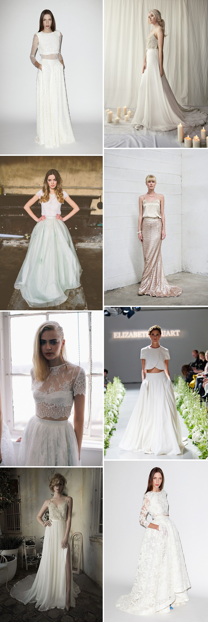Rock My Wedding's Favourite 2014 Bridal Trends Including Statement Back Bridal Gowns, Juliet Bridal Veil And Two Piece Wedding Dresses._0001