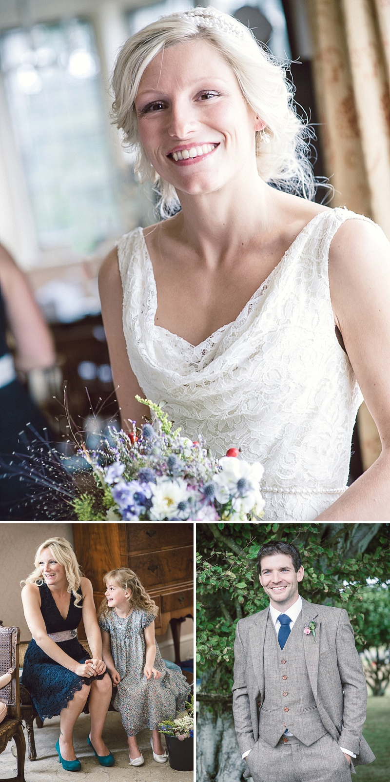 Rustic Wedding At Studland Bay House In Dorset With Bride In Charlie Brear With Hermione Harbutt Accessories And Groom In Victor Valentine Suit With Bridesmaids In French Connection 2