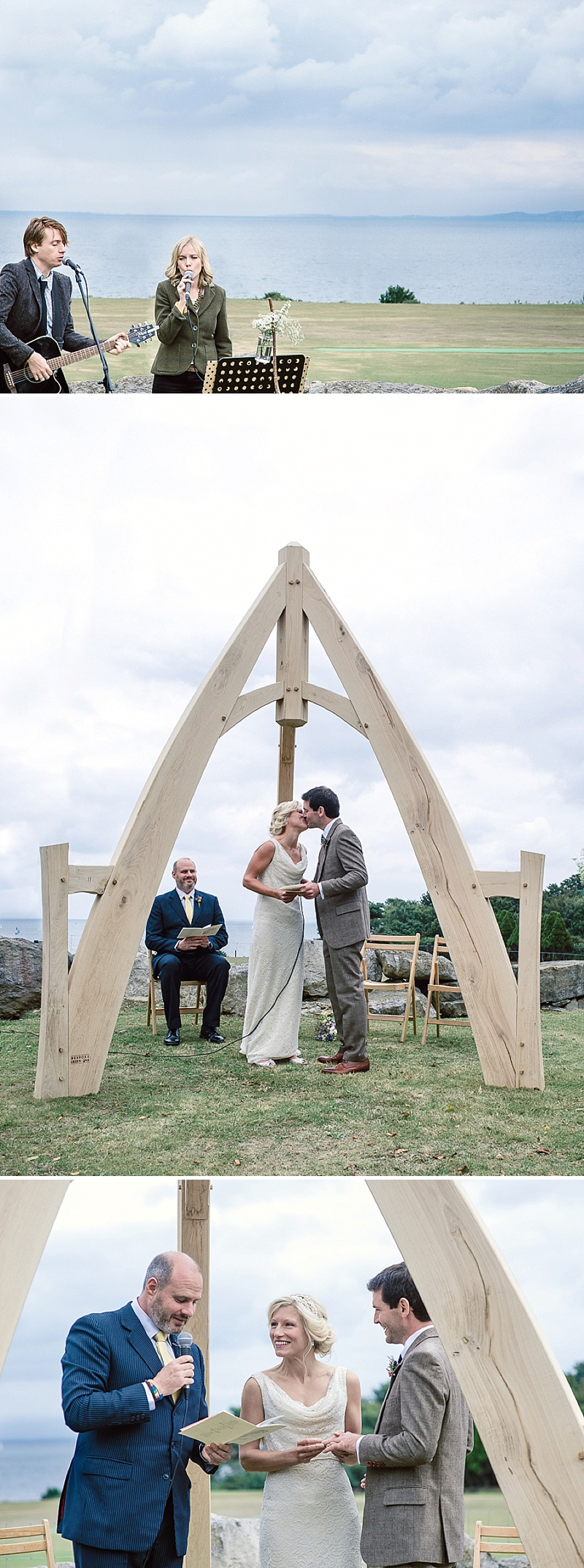 Rustic Wedding At Studland Bay House In Dorset With Bride In Charlie Brear With Hermione Harbutt Accessories And Groom In Victor Valentine Suit With Bridesmaids In French Connection 4