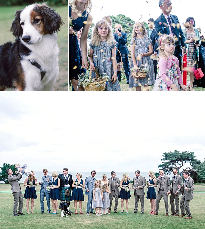 Rustic Wedding At Studland Bay House In Dorset With Bride In Charlie Brear With Hermione Harbutt Accessories And Groom In Victor Valentine Suit With Bridesmaids In French Connection 5