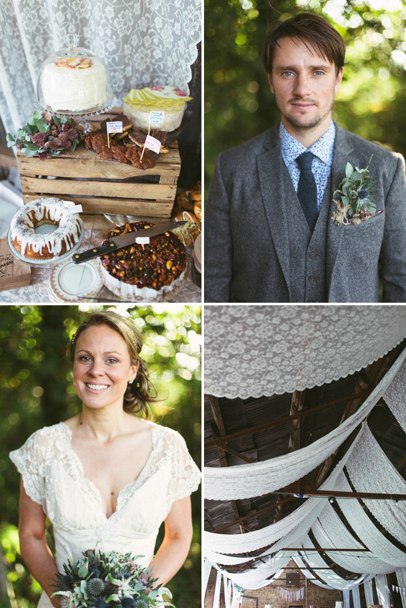A rustic barn wedding at Townfield barn Derbyshire with a barn dance and a dessert table_0216