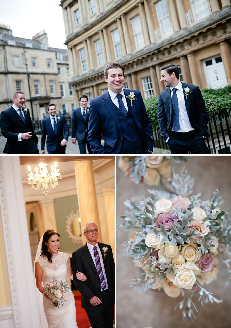 An Elegant Vintage Inspired Wedding At The Assembly Rooms Bath With Bride In Baroque By Suzanne Neville And Bridesmaids In Pink TwoBirds Gowns With Flowers From Flowers By Passion And Images From Helen Cawte Photography 4