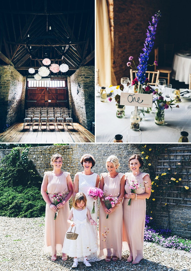 An english country garden wedding with a brides gown from Monsoon a pink peony bouquet and bridesmaids in nude and grooms in tweed_0229