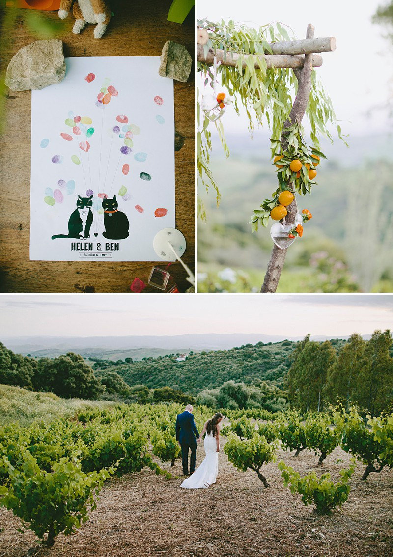 Destination Wedding In Gaucin In Spain With An Orange And Navy Colour Scheme And A La Sposa Wedding Dress With Photography By David Jenkins._0006