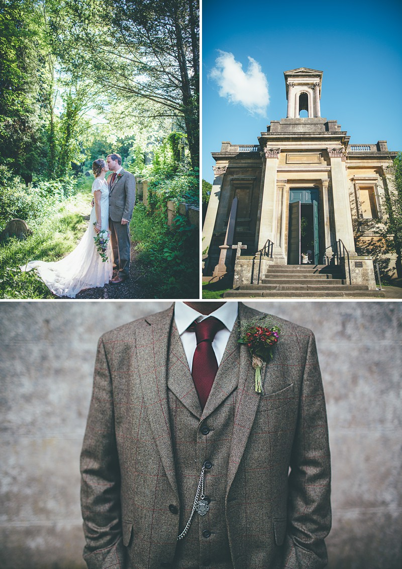 Rustic Wedding At Arnos Vale In Bristol With A 'Rania' Dress by Anouska G And Groom In Walker Slater Suit By Matt Willis Photography._0007